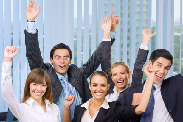 image of happy insurance agents