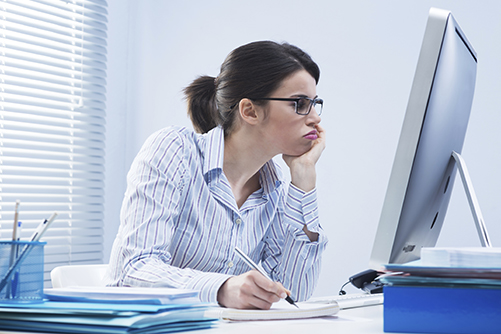 image of woman on computer