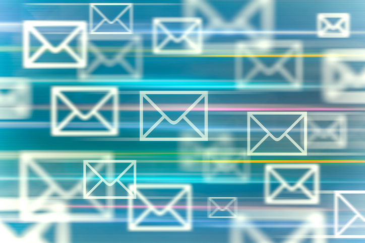 image of several emails flying