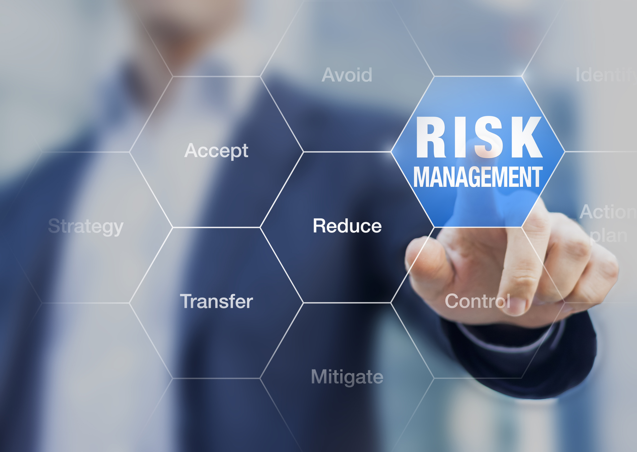 image of business man assessing risk